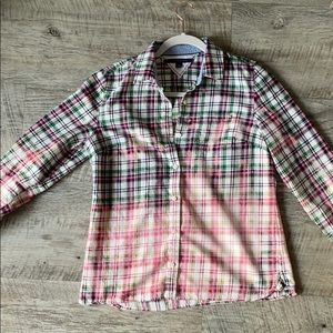 💜💜 HANDMADE Uniquely Distressed Flannel - Large